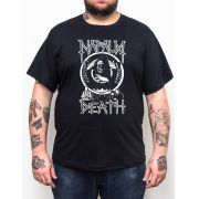 Camiseta Napalm Death - Preto - Plus Size - Tamanho Grande Xg