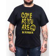 Camiseta Nirvana - Plus Size - Tamanho Grande