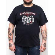 Camiseta Plus Size Cock Sparrer Bulldog