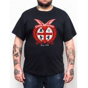Camiseta Plus Size Cock Sparrer Here We Stand