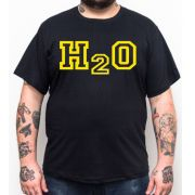 Camiseta Plus Size H2O - Preto