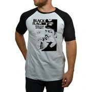 Camiseta Black Flag - Raglan