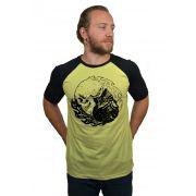 Camiseta Raglan Hshop Equilibrium - Amarelo com Preto