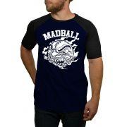 Camiseta Madball Azul com Preto - Raglan