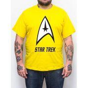 Camiseta Star Trek Amarela - Plus Size - Tamanho XG