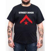 Camiseta Street Dogs - Preto - Plus Size - Tamanho Grande Xg