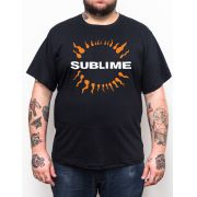 Camiseta Sublime - Preto - Plus Size - Tamanho Grande Xg