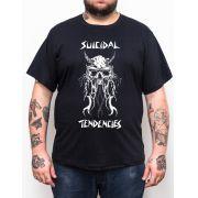 Camiseta Suicidal Tendencies - Preto - Plus Size - Tamanho Grande Xg