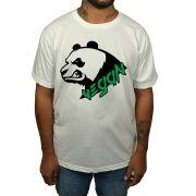 Camiseta Vegan Panda - Branco