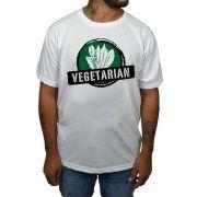 Camiseta Vegetarian - Branco - Alface