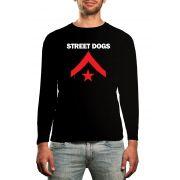 Manga Longa Street Dogs - Preto