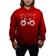 Moletom Amsterdam Bike Vermelho