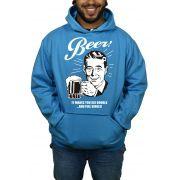 Moletom Hshop Beer Cerveja Vintage - Azul Turquesa