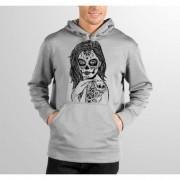 Moletom HShop Skull Girl - Cinza Mescla