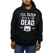 Moletom HShop Sleep  When Dead Preto.