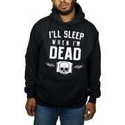 Moletom HShop Sleep  When Dead Preto.
