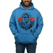 Moletom Buk Mexicana - Azul Turquesa - Tamanho G