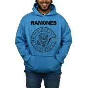 Moletom Ramones  Logo Azul Turquesa