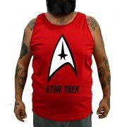 Regata Plus Size Star Trek Vermelha - Tamanho XG