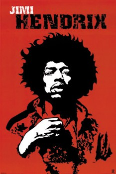 Adesivo Jimi Hendrix - 029  - HShop