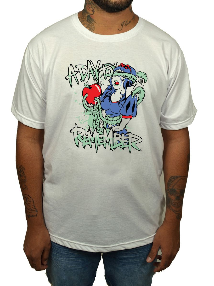 Camiseta A Day To Remember - Branca  - HShop