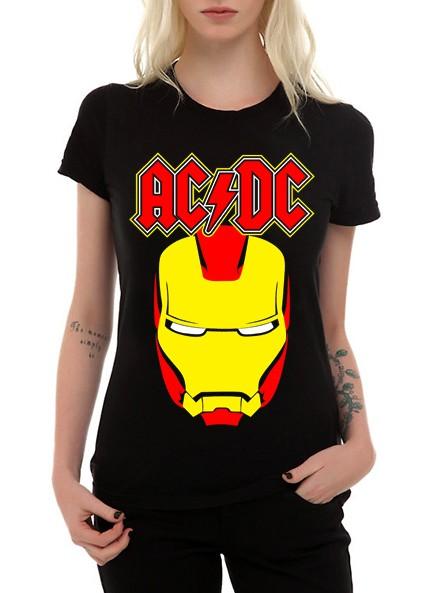 Camiseta AC/DC Iron Man - Preta  - HShop