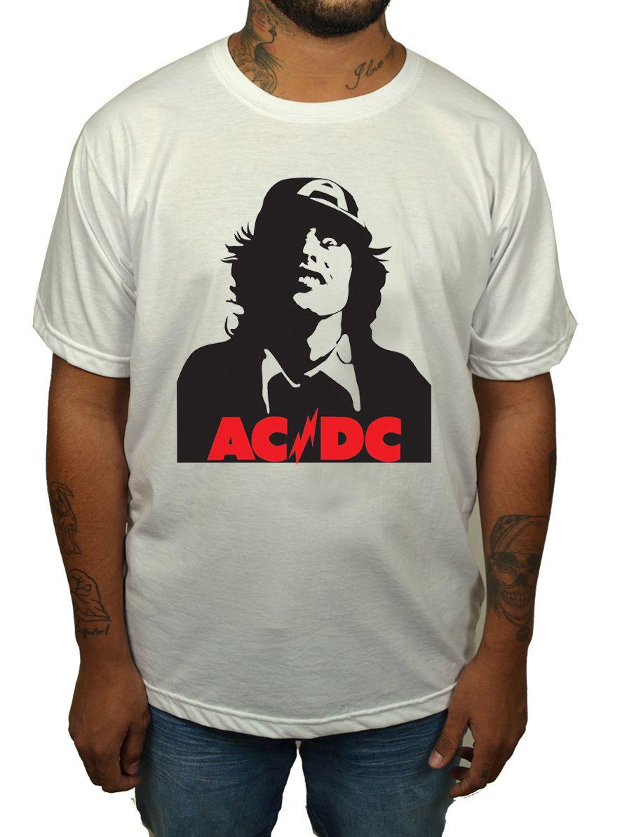 Camiseta AC/DC Angus - Branca  - HShop