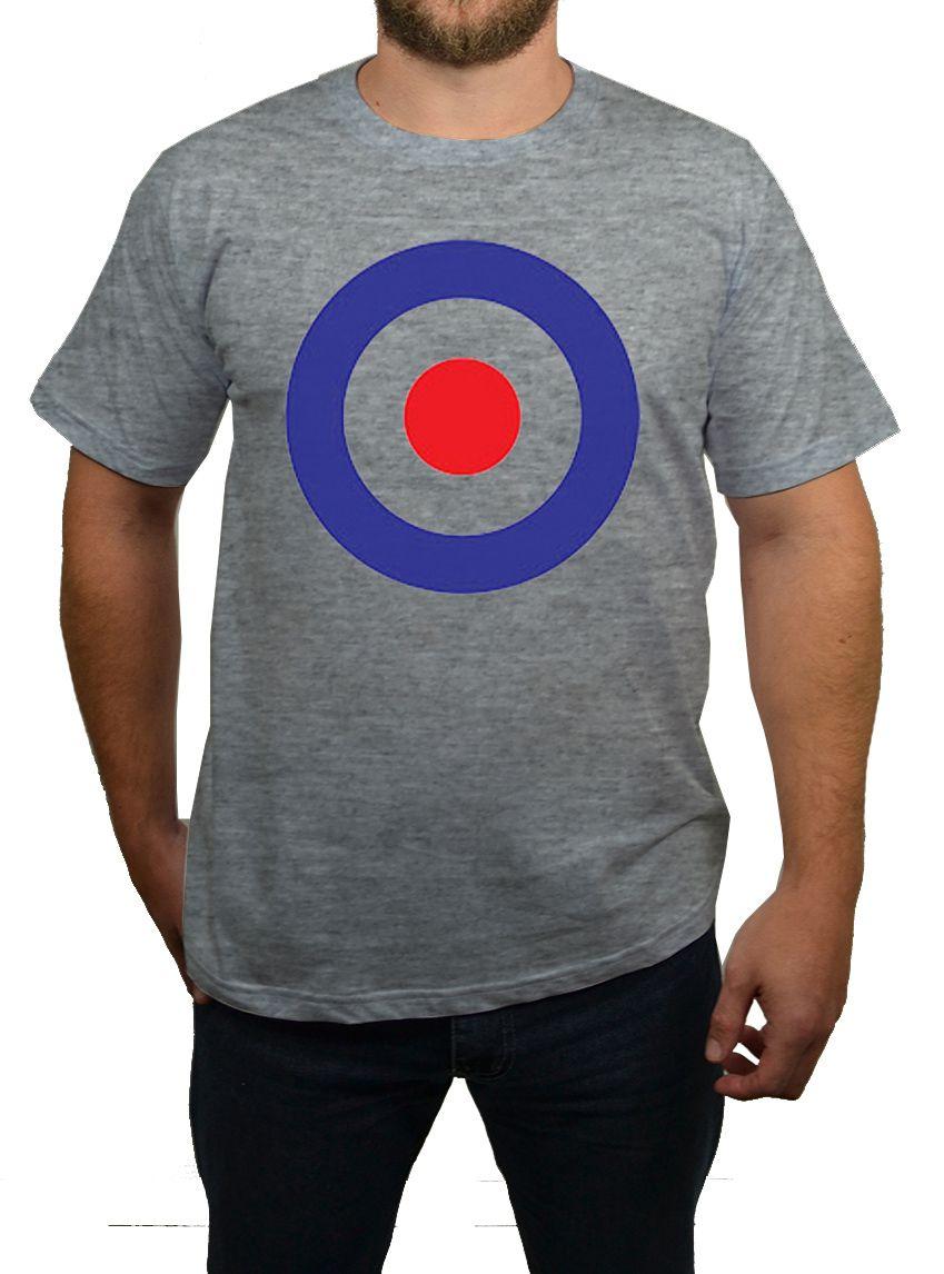 Camiseta - Alvo Mod - Cinza Mescla  - HShop
