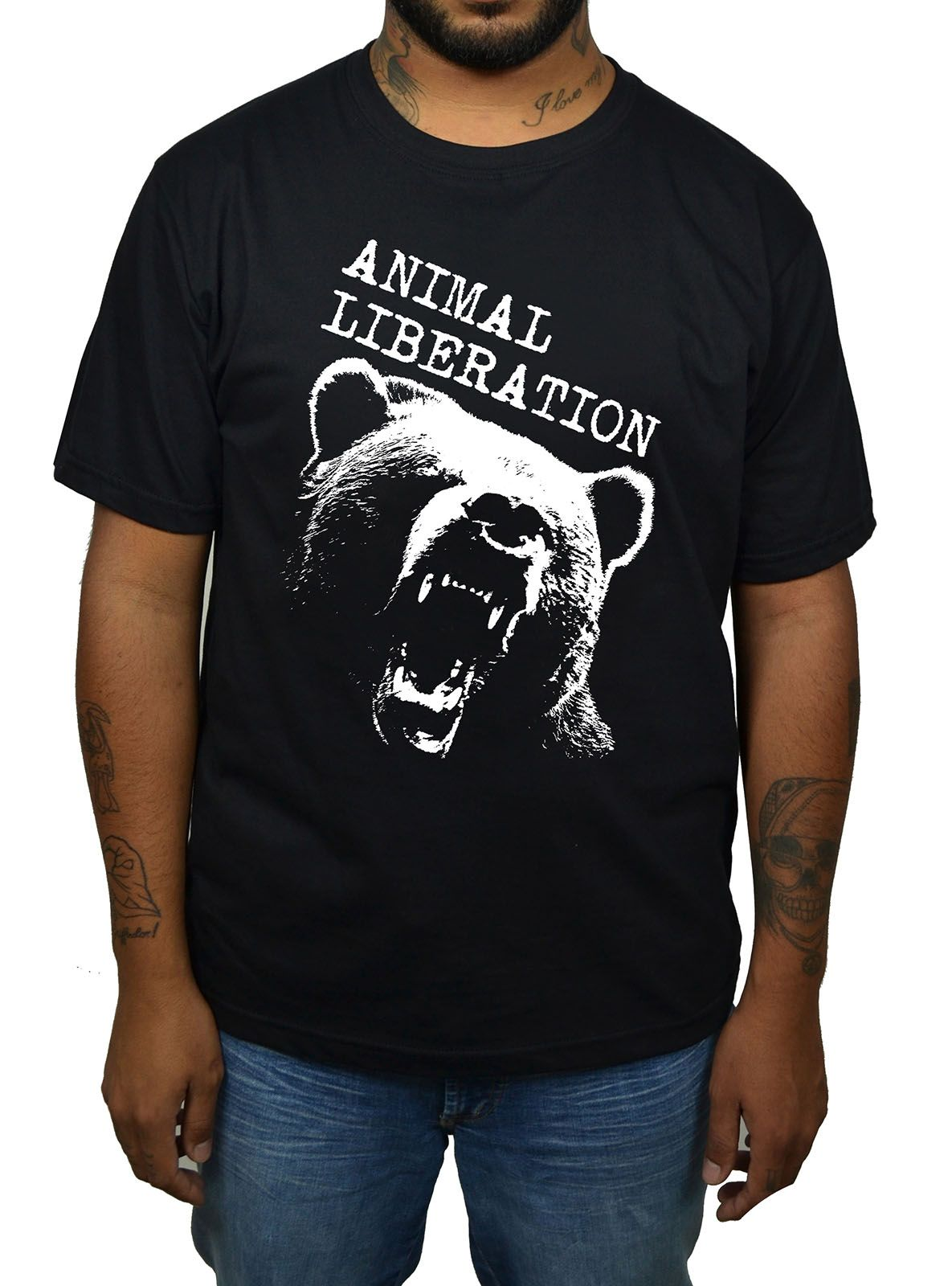 Camiseta Animal Liberation Urso - Preto  - HShop