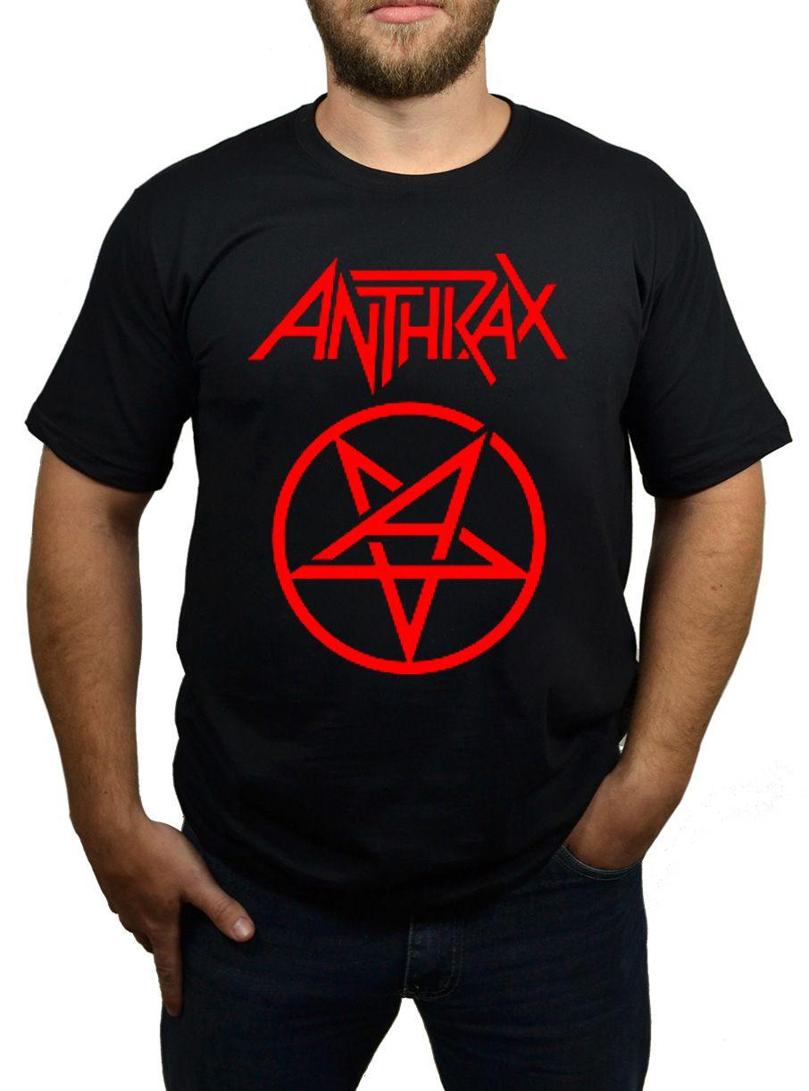 Camiseta Anthrax Pentagrama - Preta  - HShop