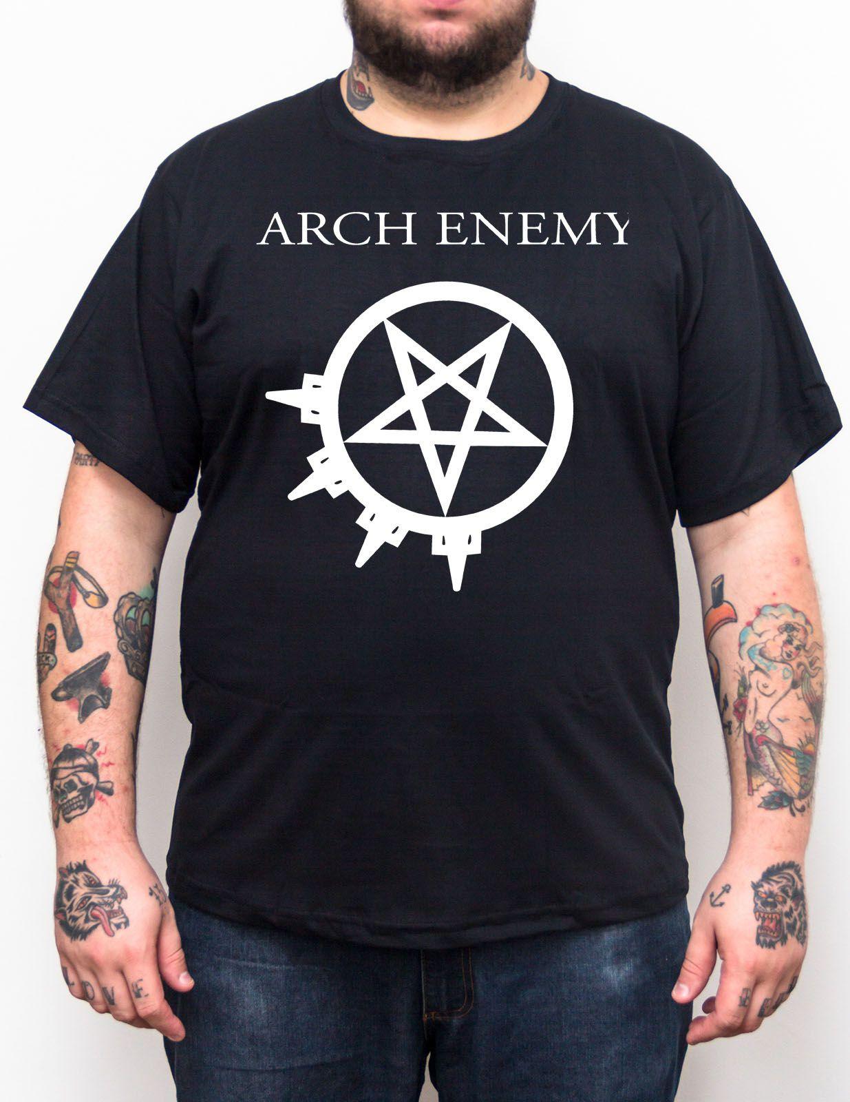 Camiseta Arch Enemy - Preto - Plus Size - Tamanho Grande Xg  - HShop