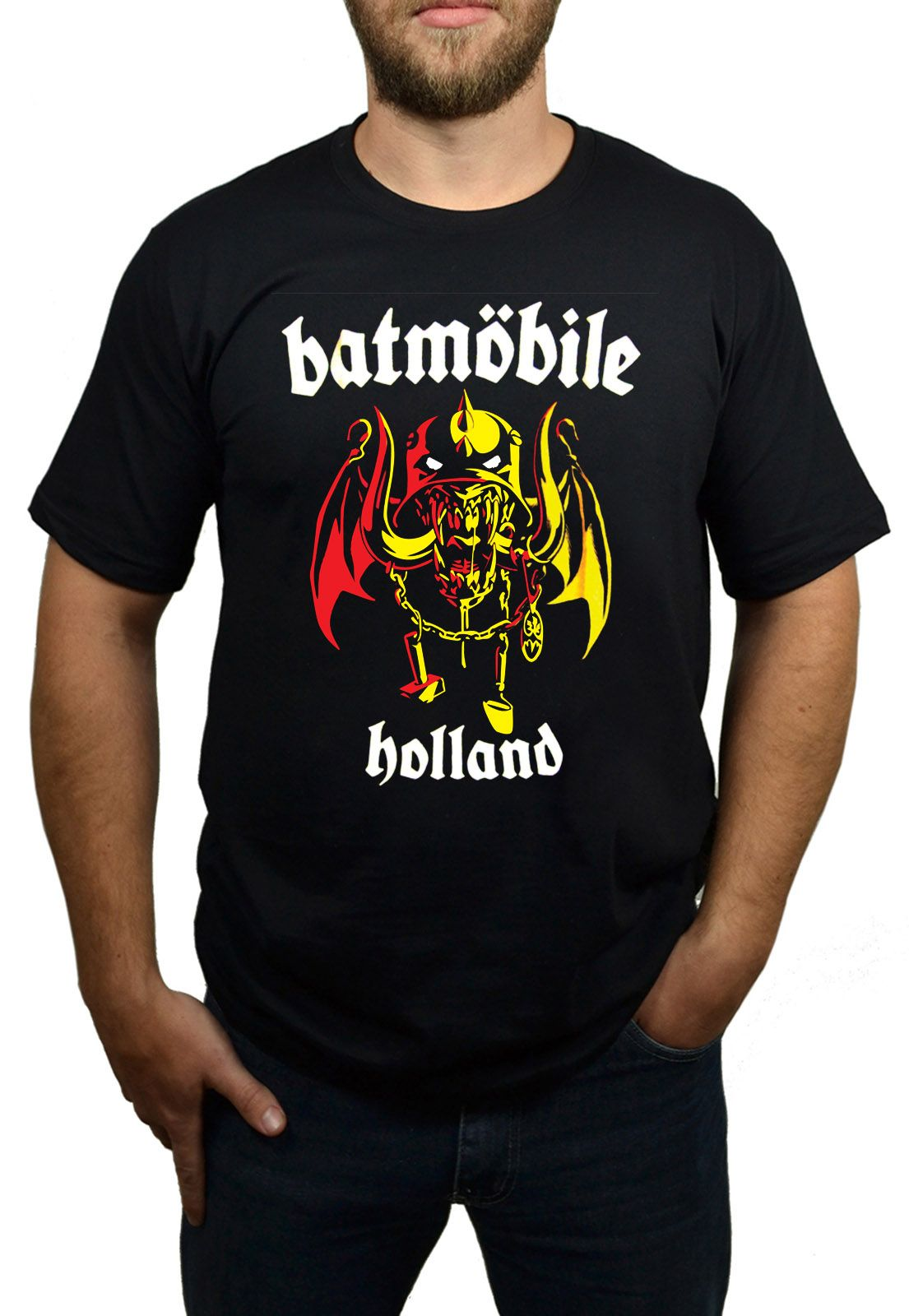 Camiseta Batmobile - Holland Preta  - HShop