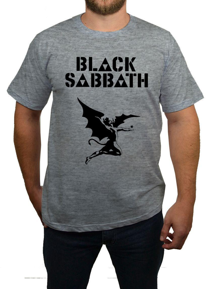 Camiseta Black Sabbath - Cinza Mescla  - HShop