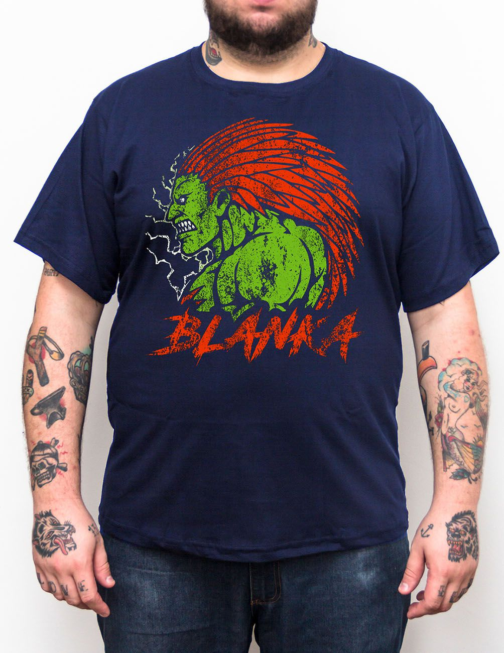 Camiseta Blanka Street Fighter - Tamanho Grande Xg  - HShop