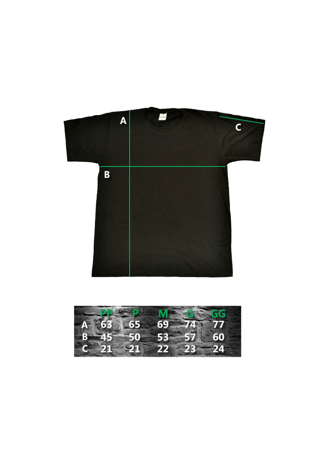 Camiseta Calabrese Preta  - HShop