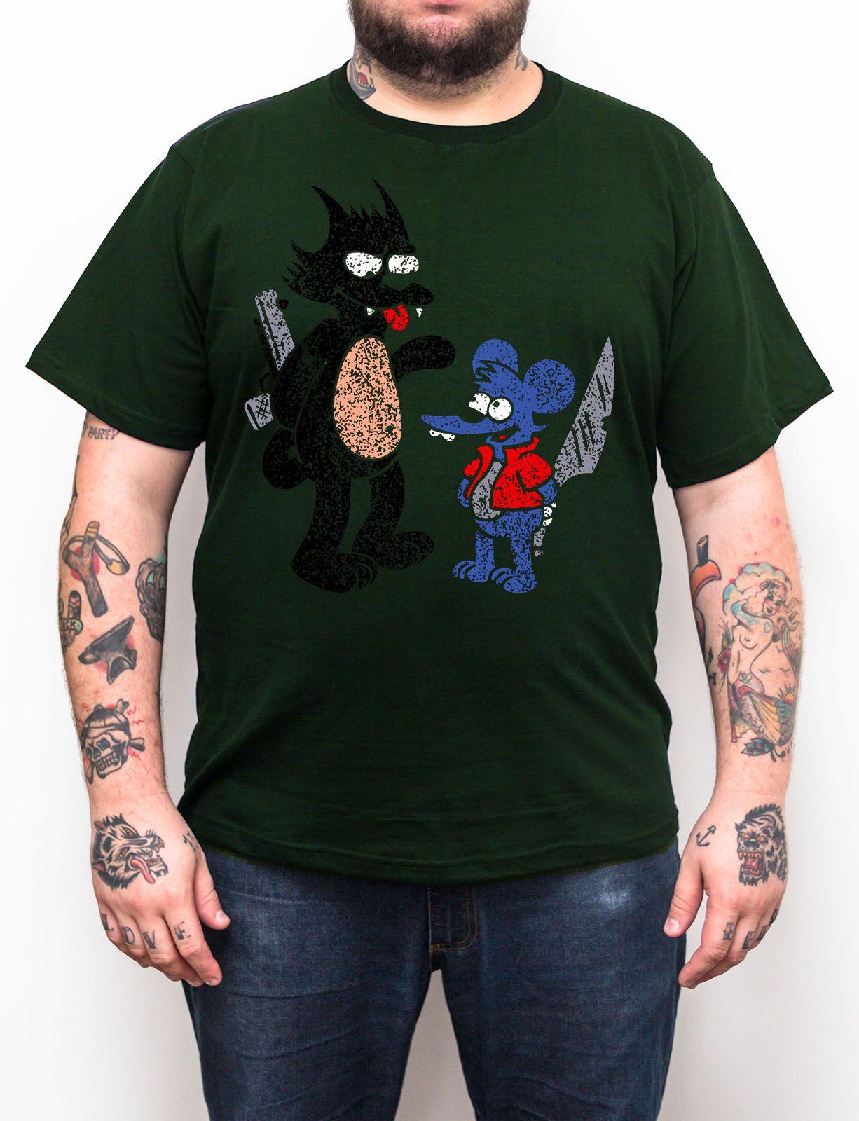 Camiseta Comichão e Coçadinha - Plus Size - Escolha a Cor  - HShop