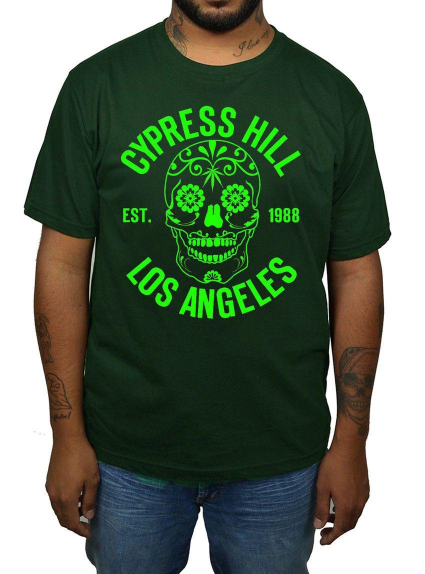 Camiseta Cypress Hill - Verde Musgo  - HShop