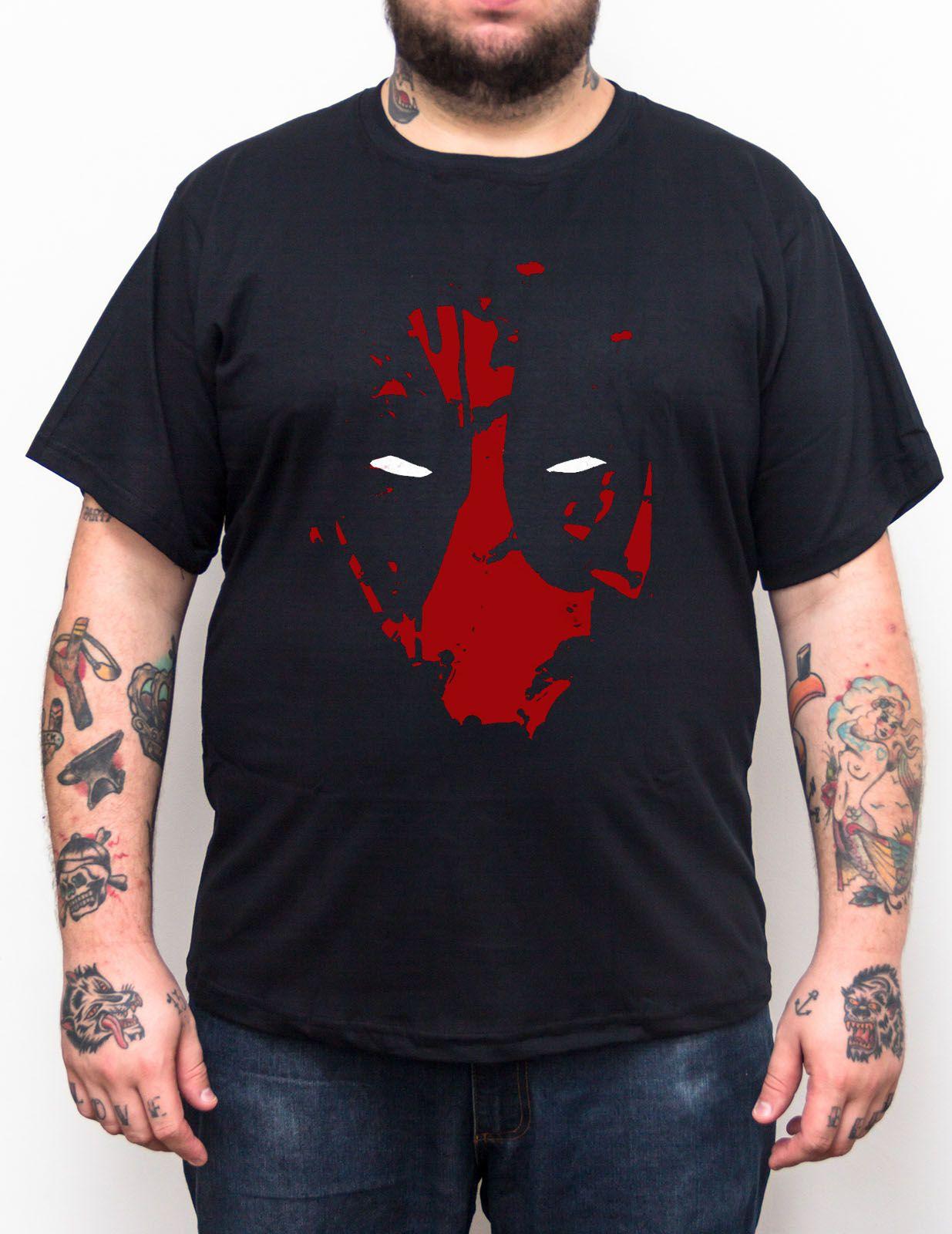 Camiseta Deadpool Mask - Plus Size - Tamanho XG  - HShop