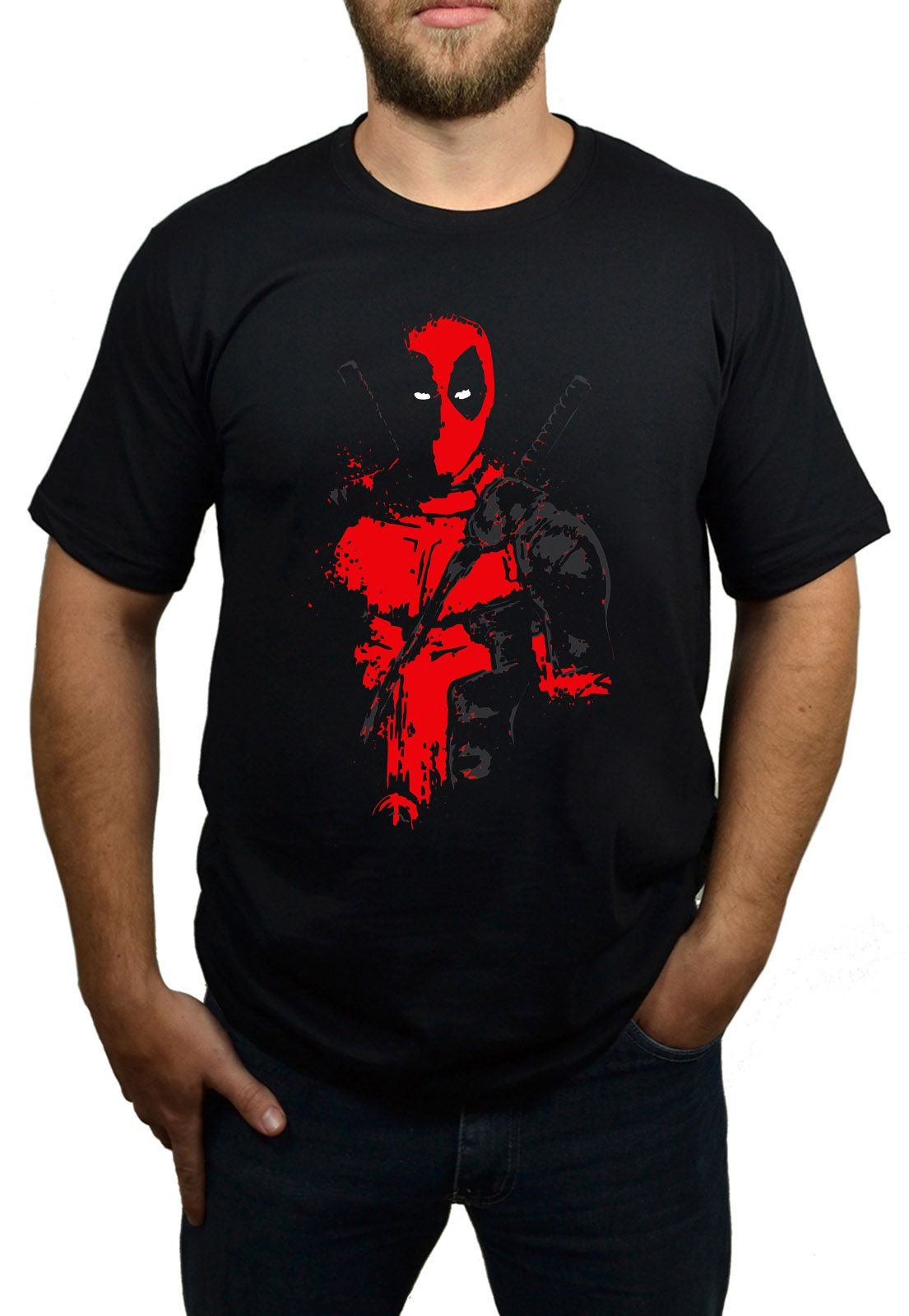 Camiseta Deadpool Preto  - HShop
