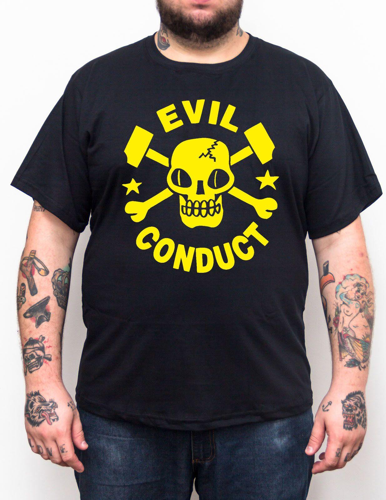 Camiseta Evil Conduct Logo Plus Size - Tamanho Grande  - HShop