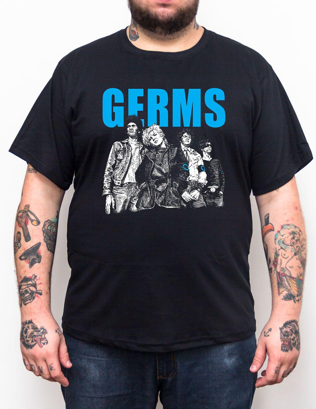 Camiseta Germs Plus Size - Tamanho Grande  - HShop