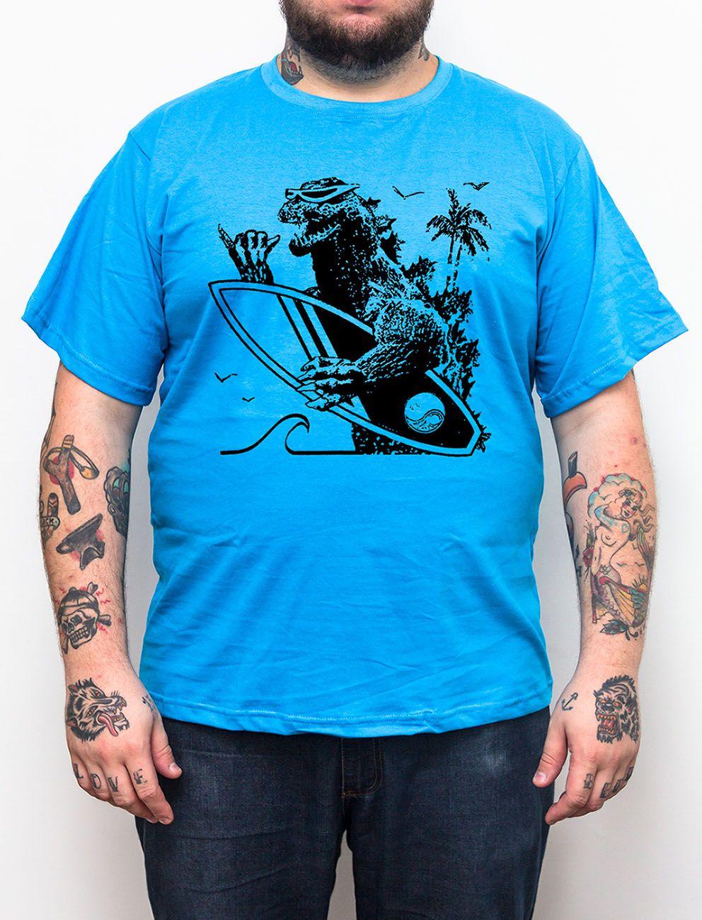 Camiseta Godzilla Prancha - Tamanho Grande Xg  - HShop