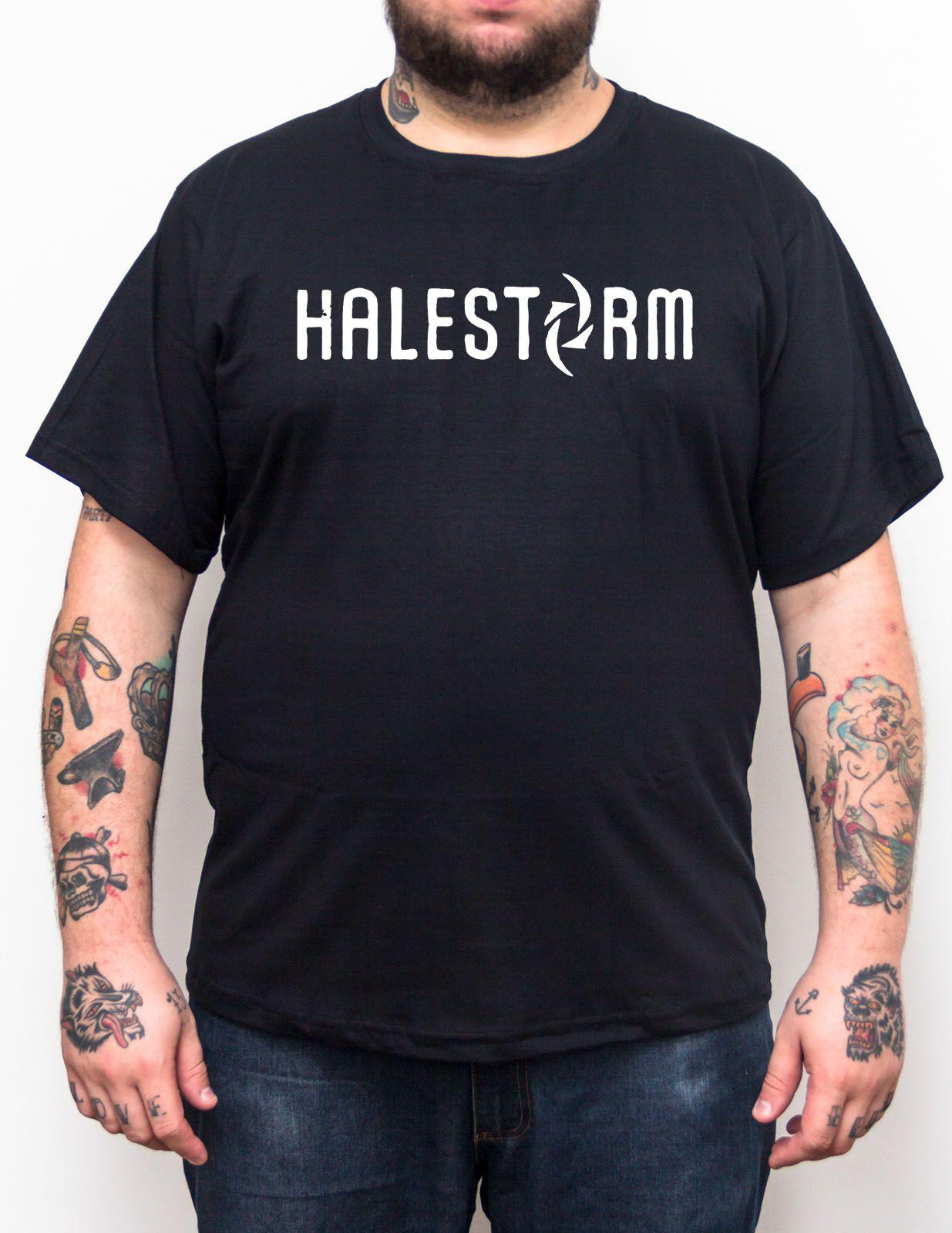 Camiseta Halestorm - Preto - Plus Size - Tamanho Grande Xg  - HShop