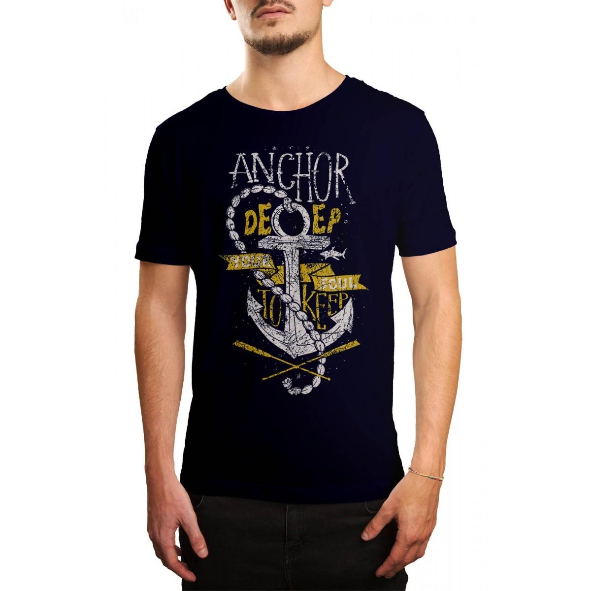 Camiseta Holdfast Anchor Azul Marinho  - HShop
