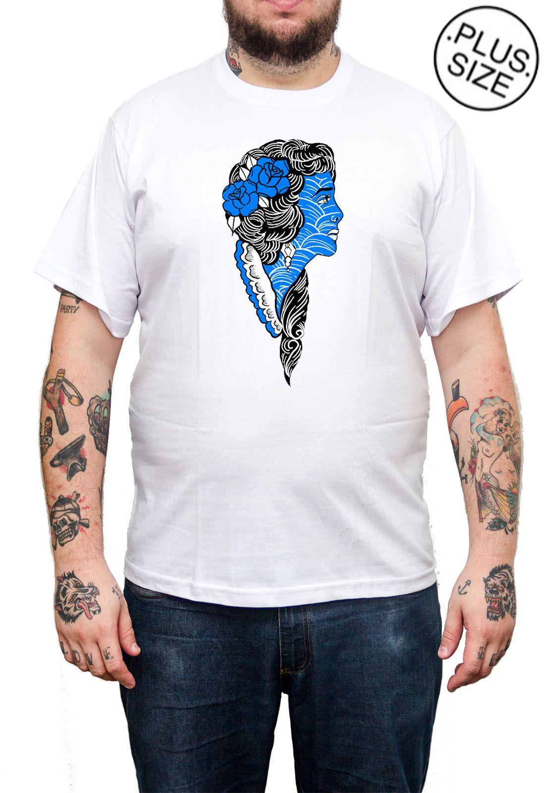 Camiseta Holdfast Bride - Branco - Plus Size - Tamanho Grande XG  - HShop