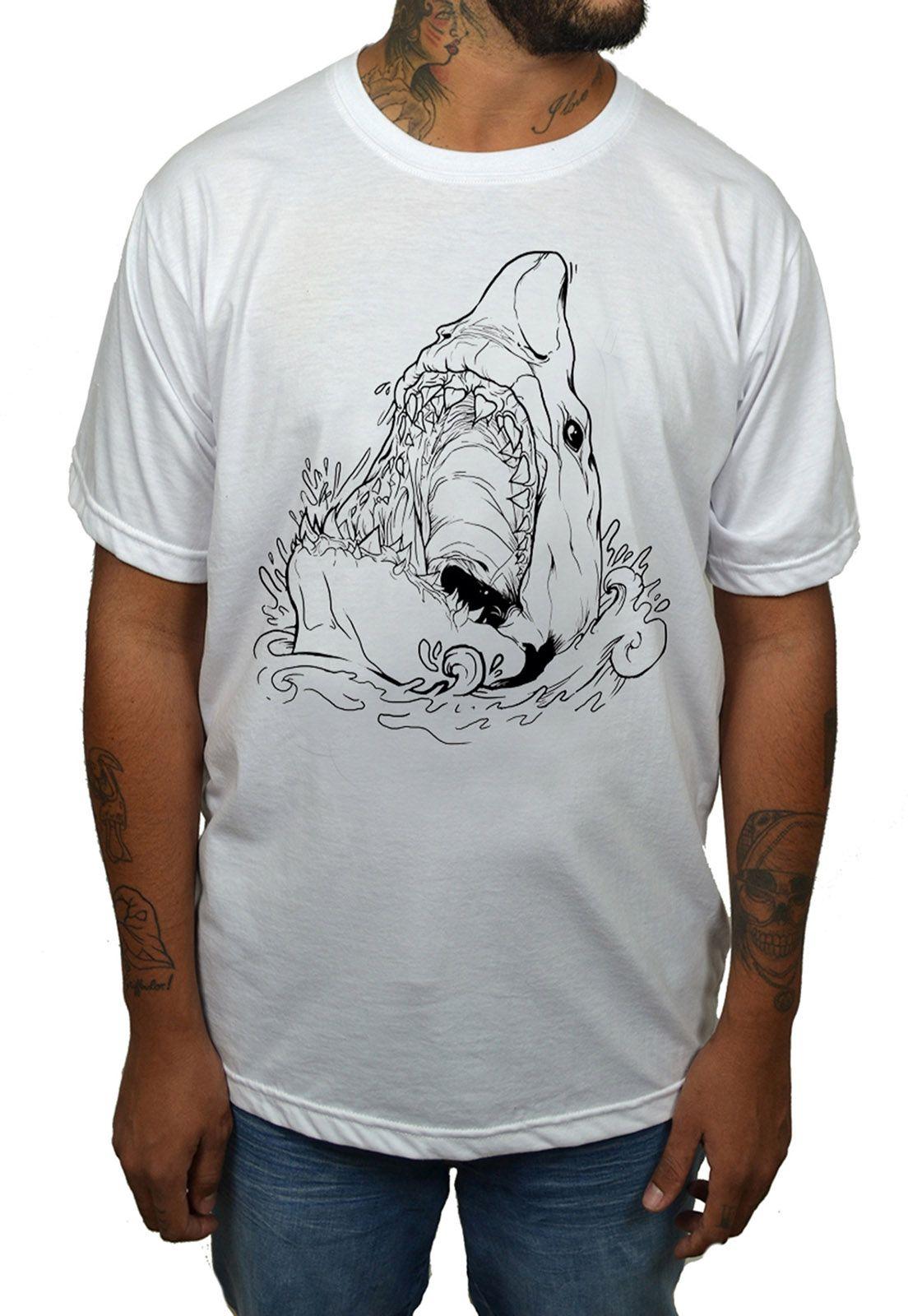 Camiseta Holdfast Shark - Branca  - HShop