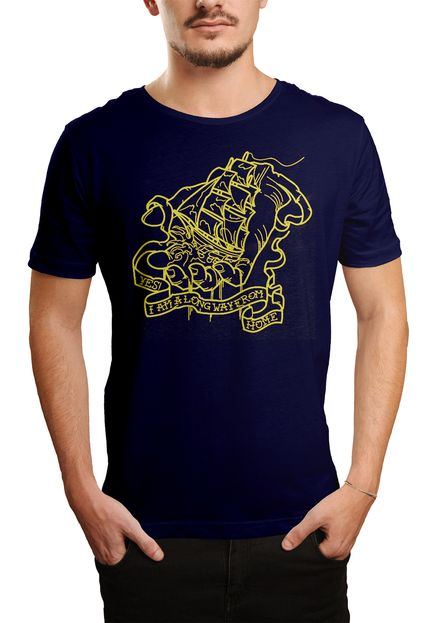 Camiseta Holdfast Way From Home  - Azul Marinho  - HShop