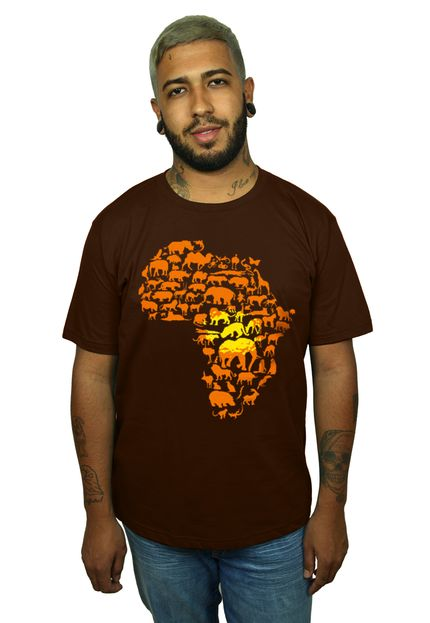 Camiseta HShop Africa Marrom  - HShop