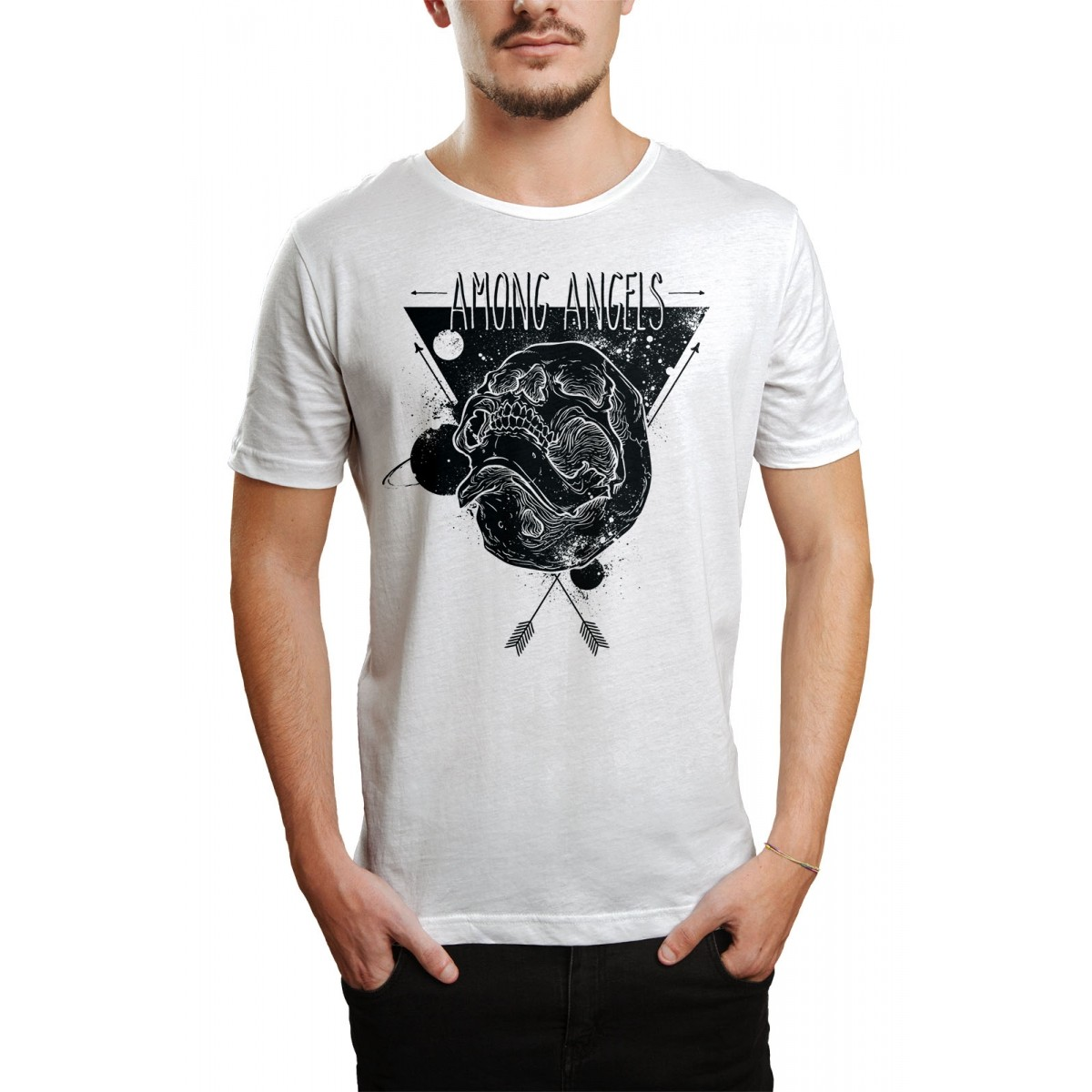 Camiseta HShop Among Angels Branca  - HShop