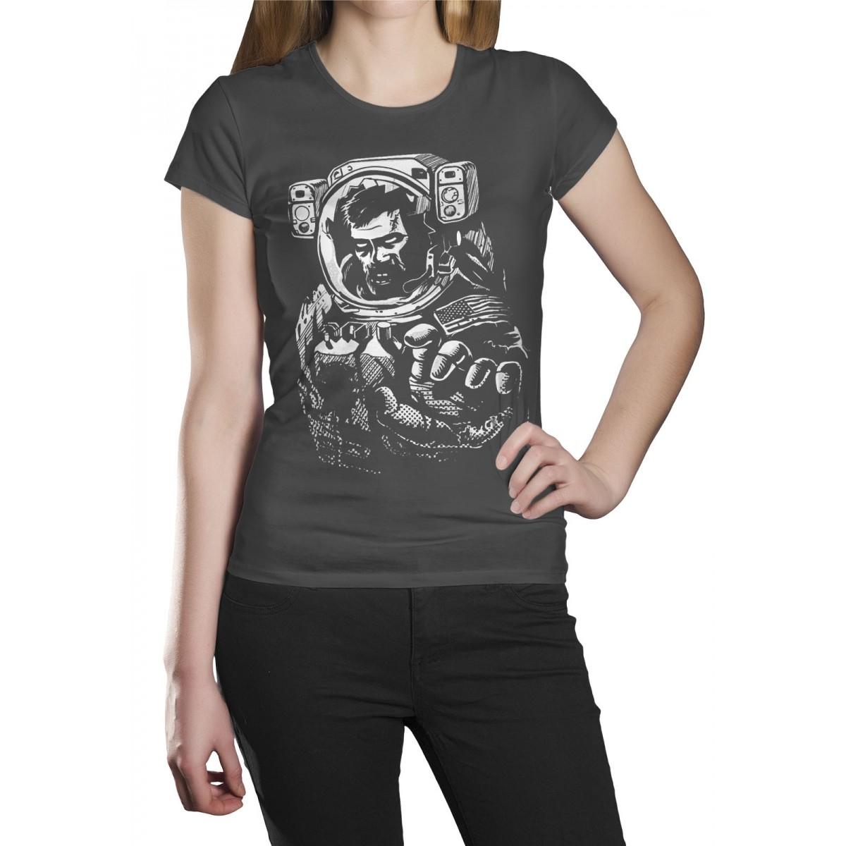 Camiseta HShop Astronauta Zumbi Cinza  - HShop